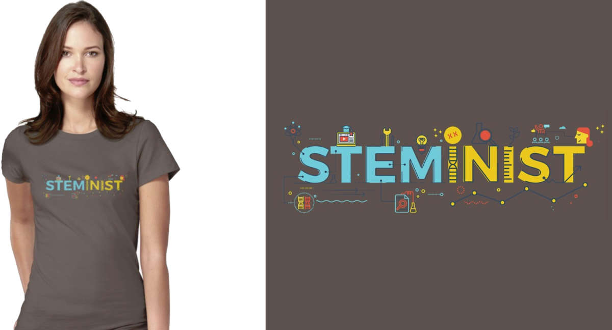 STEMinist by Science Art Woment T-Shirt