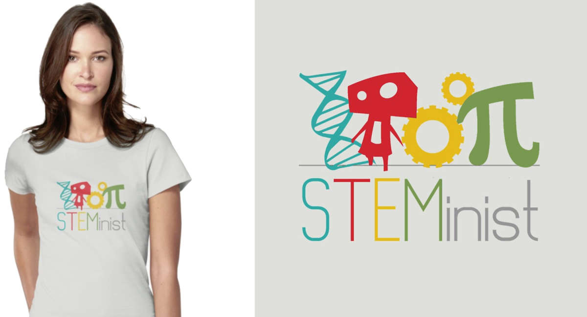 STEMinist Science Support T-shirt by ravish designs
