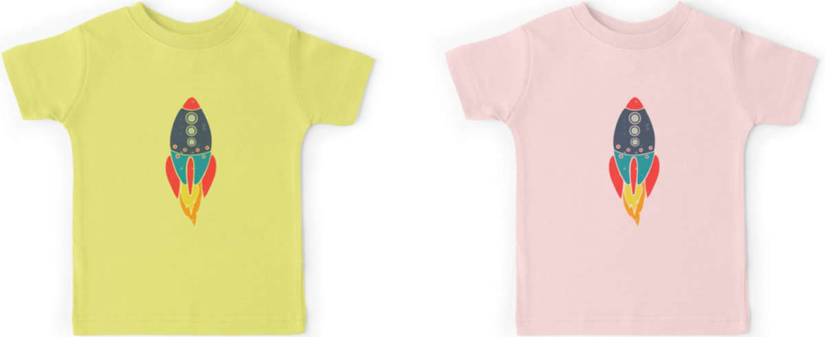 Kids Bright Coloured Rocket Top