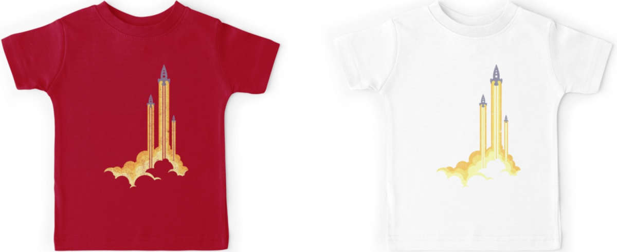 Tripple Rocket T-Shirt for Kids