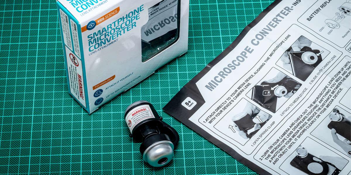 Kmart Smartphone Microscope Converter