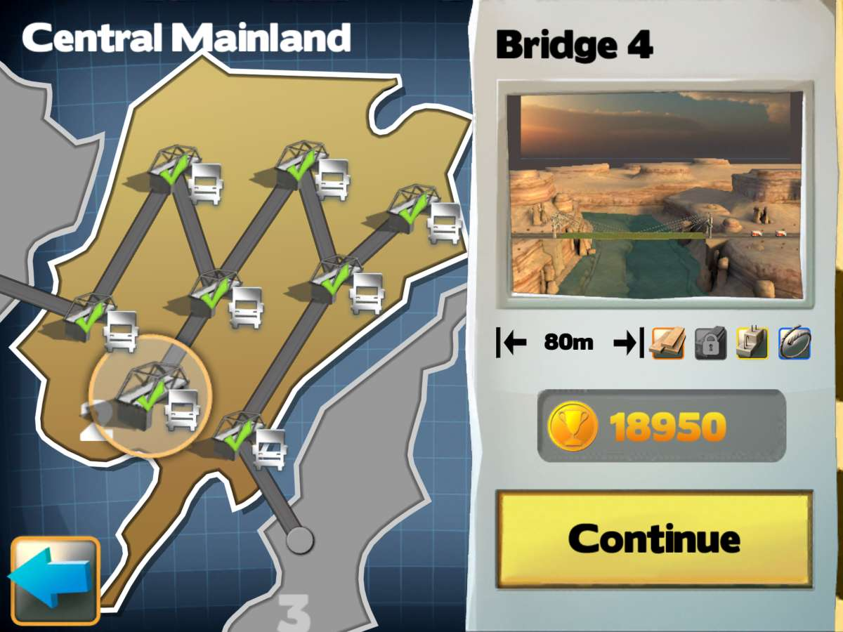 Bridge Constructor Map View