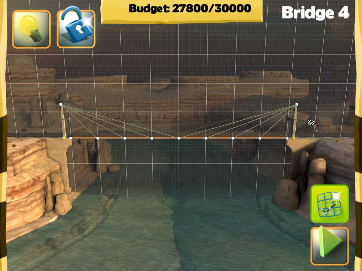 Bridge Constructor STEM Game - Build View