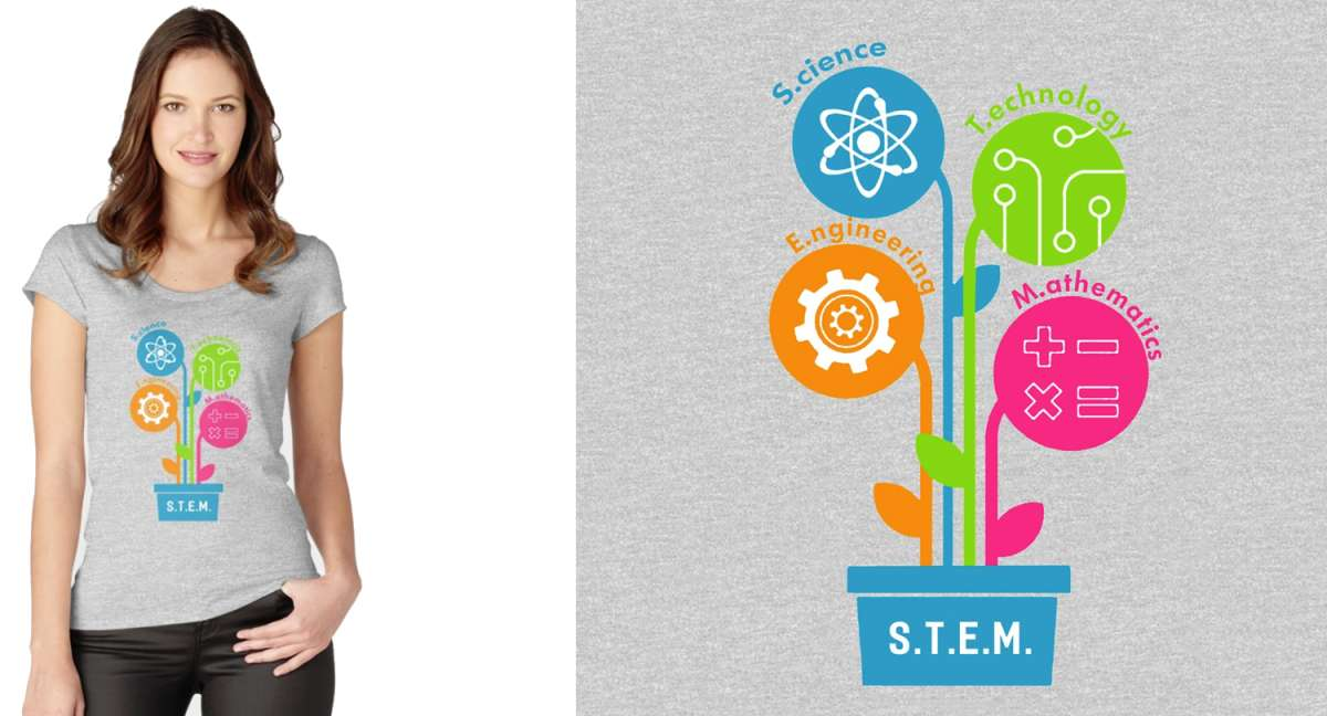 STEM Shirt for Women with Plant Style