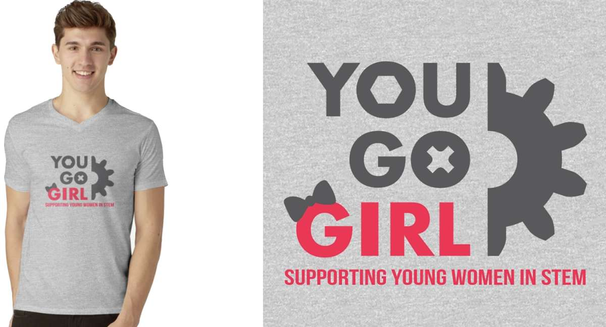 Supporting Women in STEM T-Shirt Design