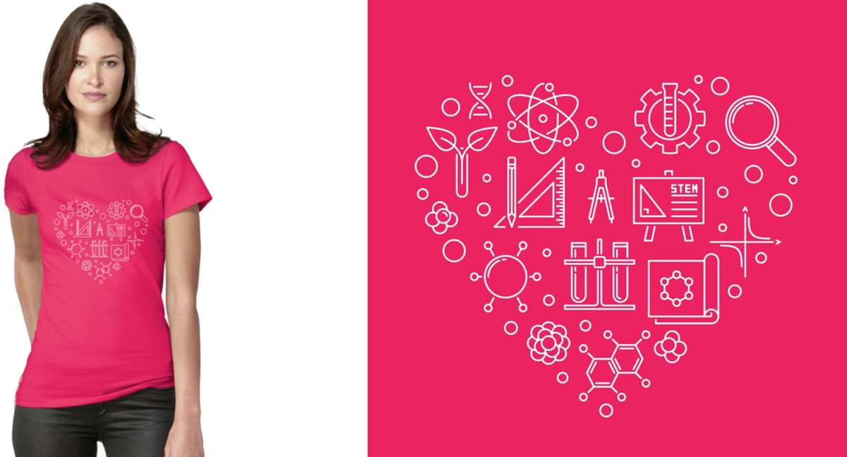 STEM Heart T-Shirt Design