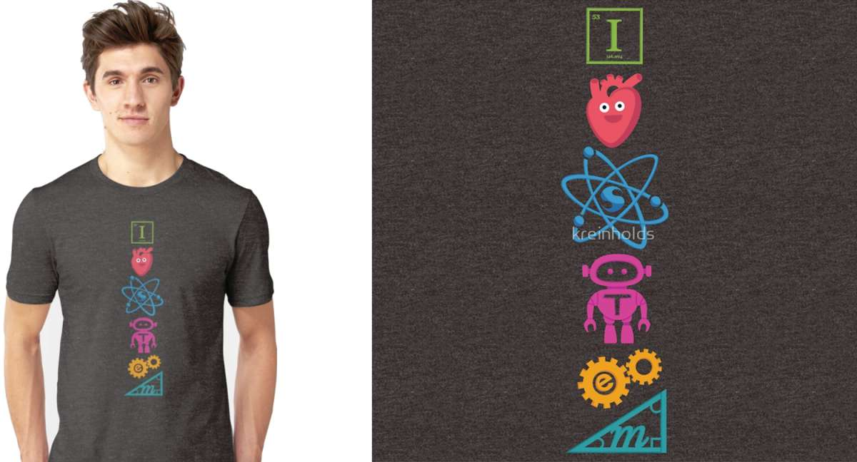 I Love STEM Slim Fit T-Shirt