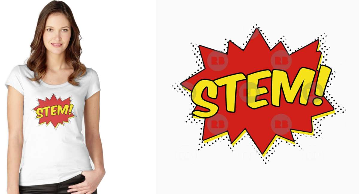STEM Pow Fitted Scoop T-Shirt