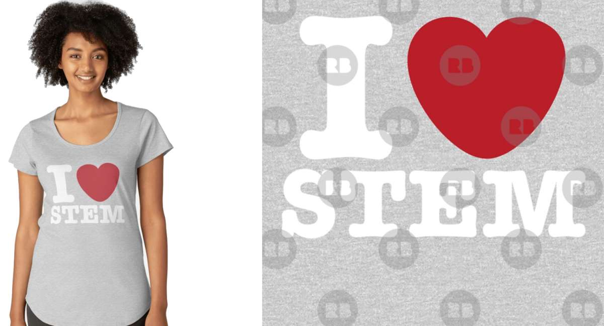 I Love STEM Ladies Shirt