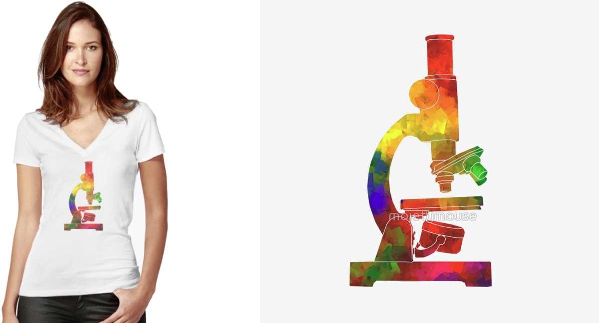Rainbow Microscope Tshirt