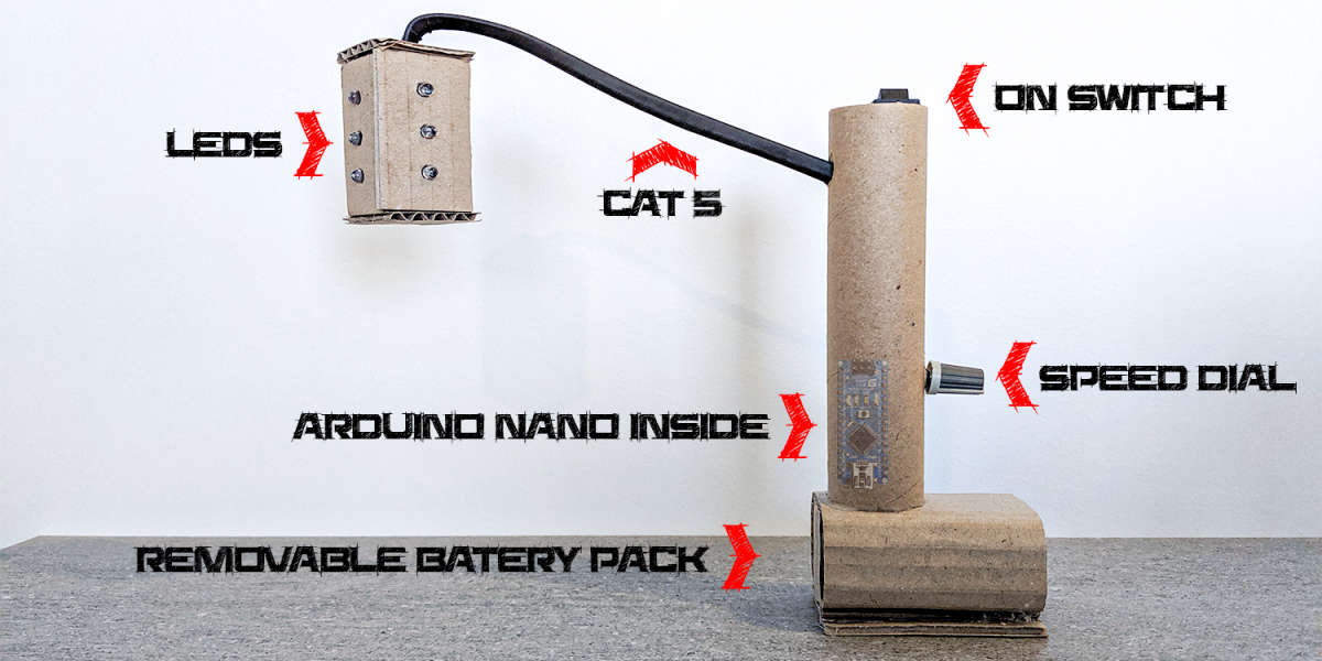 Cardboard Traffic Light Equipment
