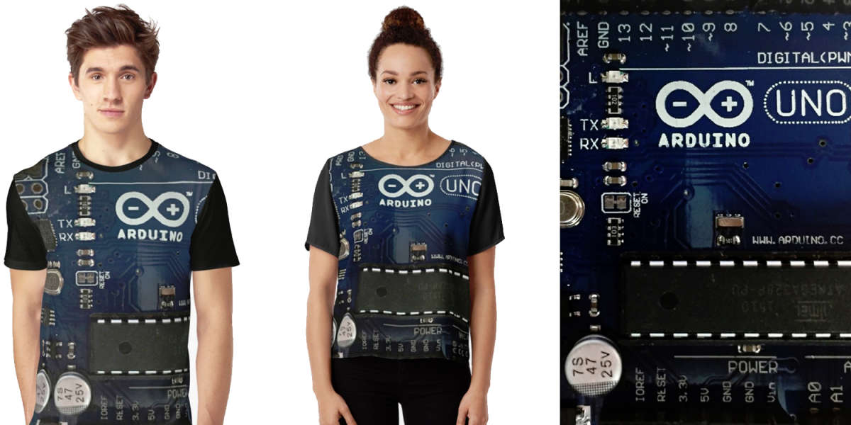 Arduino Uno Board Graphic Print Entire T-Shirt