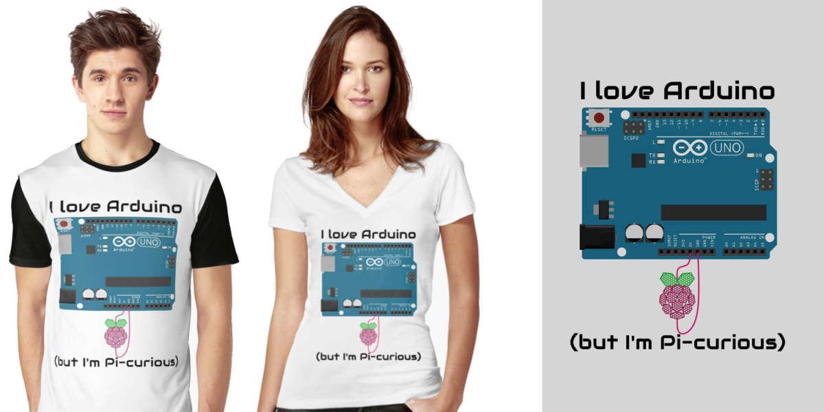 I Love Arduino But Im Pi-Curious Funny Arduino T-Shirt