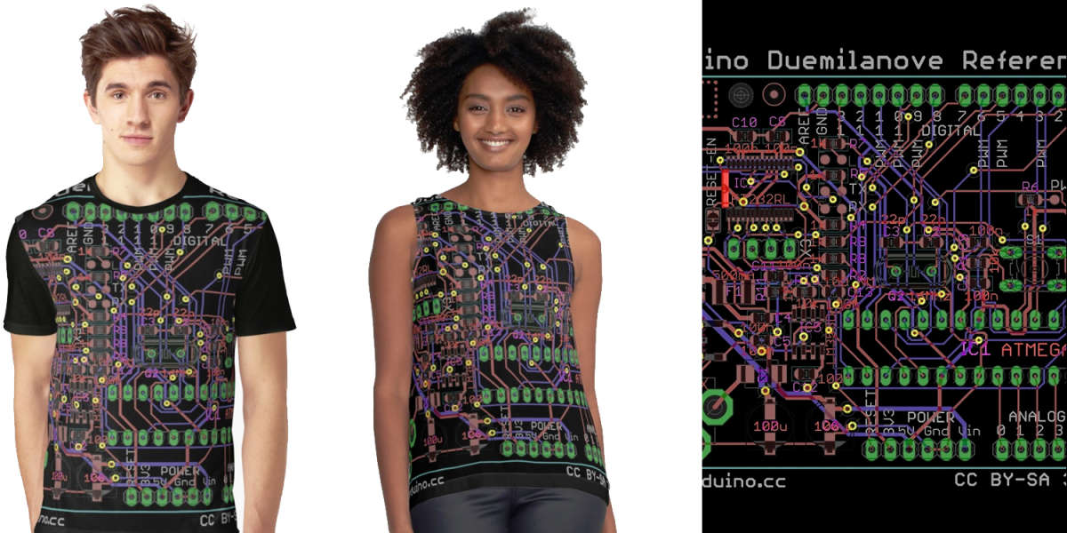 Arduino Duemilanove Reference Design T-Shirt for Men and Women