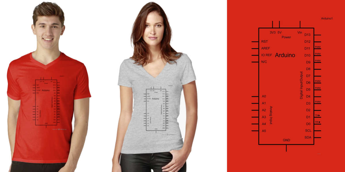 Arduino Schematic Designed T-Shirt