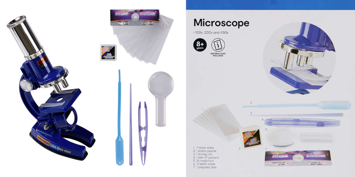 Whats in the Box - Contents of Kmart Microscope
