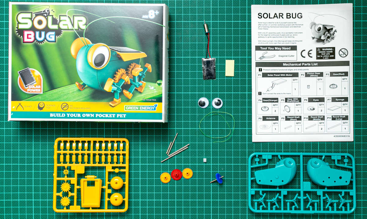 Whats in the Box Solar Bug by Green Energy