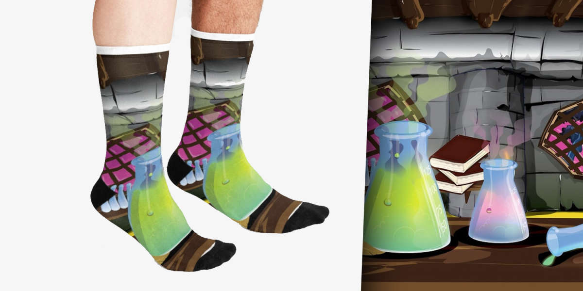 Cartoon Science Laboratory Socks